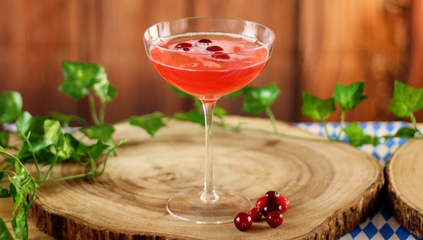 Autumn Cocktails: Cranberry Mimosa Recipe